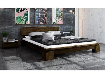 Lit en bois massif design contemporain Wenge - Vinci bas