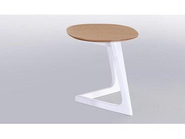 TABLE D'APPOINT EN BOIS CHÊNE ET BLANC - STORM