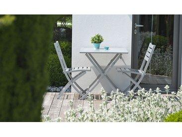 Salon de jardin pliant 2 places en aluminium - Marius