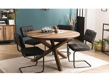 Table ronde 130 cm en bois recyclé - Thekku