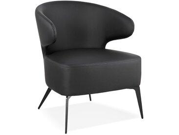 Fauteuil de salon noir design - Paolo
