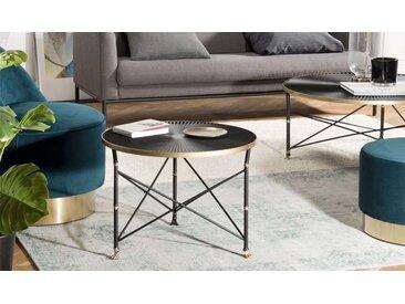Table appoint noire et dorée - Rog