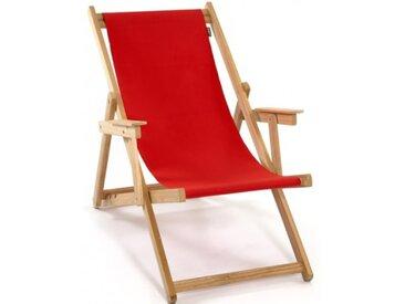 Chilienne en bois pliante et toile rouge - Lona