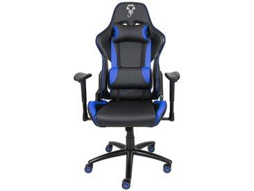 Fauteuil gamer de bureau noir et bleu - Scorpion