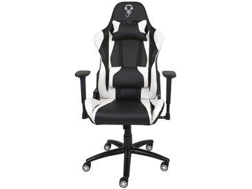 Fauteuil de gamer de bureau noir et blanc - Scorpion