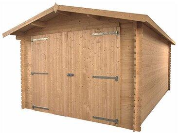 Garage en bois autoclave 17m2 - Alberta
