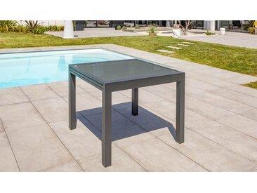 Table de jardin rallonge anthracite 4/6 places - Tolède