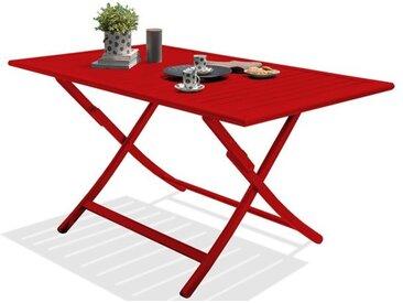 Table de jardin pliante en aluminium 140x80 - Marius