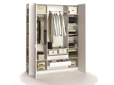 ARMOIRE DRESSING BLANC 4 PORTES 260 CM - 4YOU