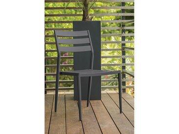 Chaise jardin empilable aluminium anthracite - Gabin