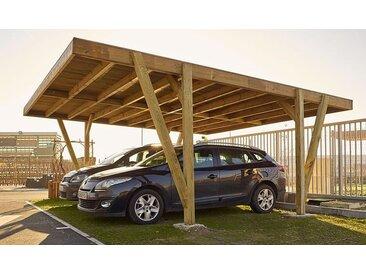 Carport en bois 2 voitures 34 m2 - Vosges