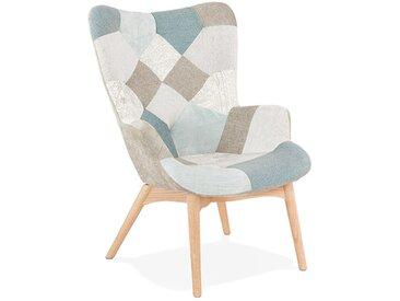 Fauteuil de salon en tissu patchwork - Flavio