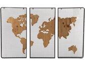 Tritpyque carte du monde