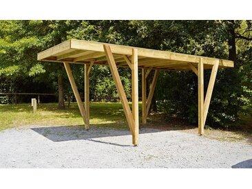 Carport en bois autoclave 17 m2 - Alpin