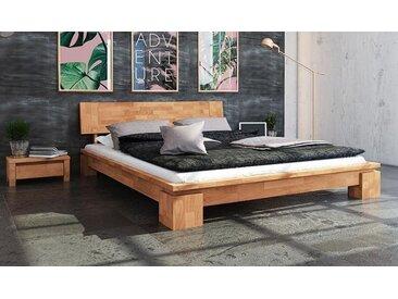 Lit moderne en bois massif naturel - Vinci Bas