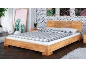 Lit en bois massif naturel design - Zenno bas