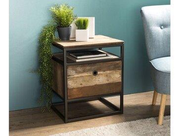 Meuble d'appoint en bois recyclé et métal - Thekku