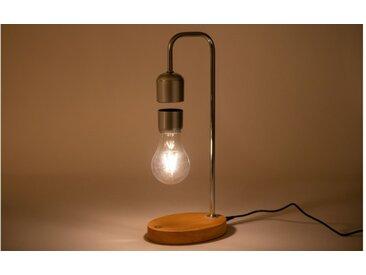 Lampe led à poser métal et chêne - Lévitation