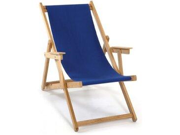 Chilienne en bois pliante et toile bleue - Lona