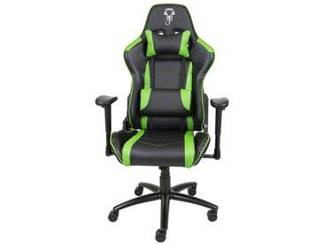Fauteuil gamer de bureau noir et vert - Scorpion