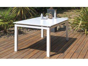 Table jardin extensible 180/240 cm alu blanc - Mykonos