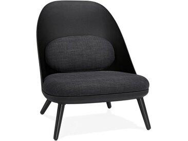 Fauteuil noir design ovale - Falco
