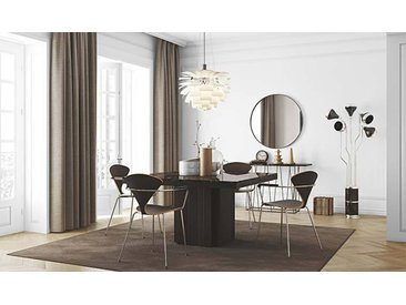 Table carrée en marbre marron Emperador - Dusk 130