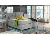 Boxspring lit design led avec coffre - Elda
