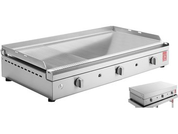 Plancha gaz inox + couvercle - Chef 80