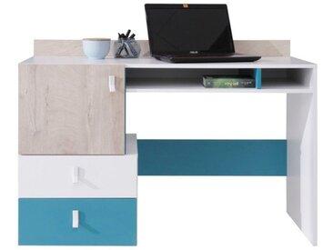 Bureau enfant design bleu et blanc - Neptune