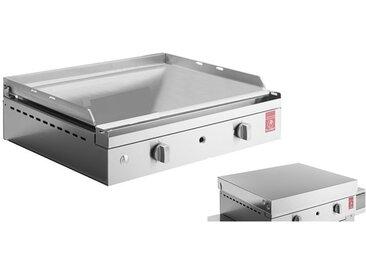Plancha inox au gaz + couvercle - Chef 55