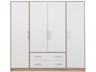 Grande armoire blanche 4 portes et 2 tiroirs - Finland