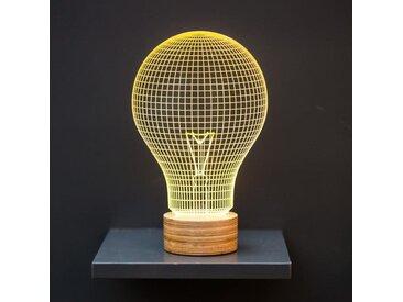 Lampe BULBING Yellow Bulb 3D À Lumières Led