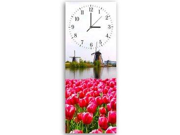 Tableau horloge murale et patère LE PAYSAGE NÉERLANDAIS