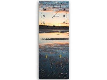 Tableau horloge murale et patère PLAGE INONDÉE