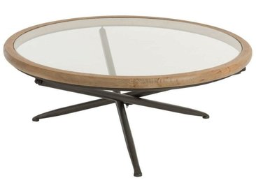 Table basse Ronde verre Marron Large BOOBOROWIE