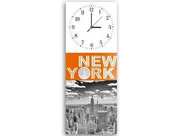 Tableau horloge murale et patère NEW YORK 2
