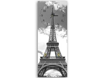 Tableau horloge murale et patère LA TOUR EIFFEL