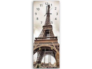 Tableau horloge murale et patère TOUR EIFFEL 2