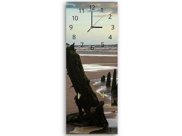 Tableau horloge murale et patère LES RESTES DU PONT 2 25 x 65