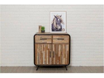 Buffet FUSION 2 tiroirs 2 portes Teck recyclé