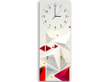 Tableau horloge murale et patère 3 ABSTRACTION 25 x 65