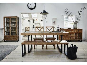 Table à manger extensible en bois recyclé style industriel 180/240cm BRISBANE