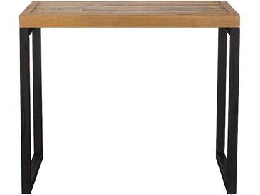 Table haute mange-debout bois recyclé et métal style industriel 120x80cm BRISBANE