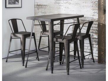 Table haute mange-debout métal style industriel 120x60cm RALF