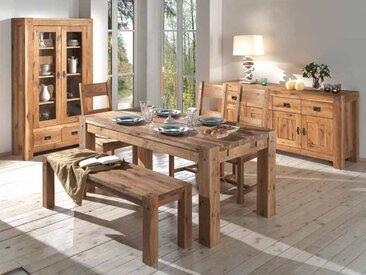 Table à manger contemporaine extensible en chêne massif 150/250cm FJORD