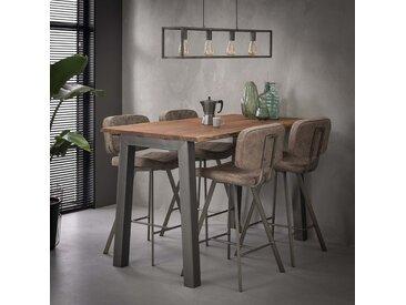 Table haute mange-debout bois acacia métal style contemporain 147cm MELBOURNE