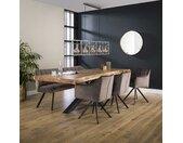 Table à manger bois massif pied mikado en métal 200 cm style contemporain MELBOURNE