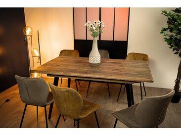 Table à manger extensible 160/200 cm en bois recyclé BRISBANE