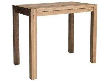 Table haute mange-debout bois de chêne massif style nordique 120cm FJORD